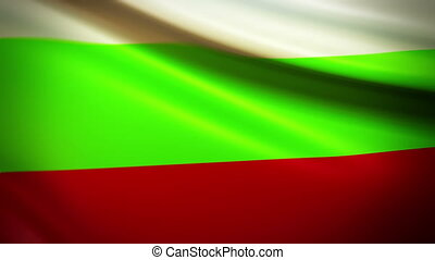 Waving Flag Bulgaria Punchy - National flag of Bulgaria...