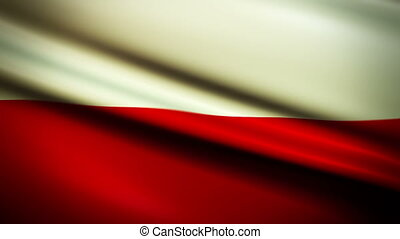 Waving Flag Poland Punchy - National flag of Poland waving...