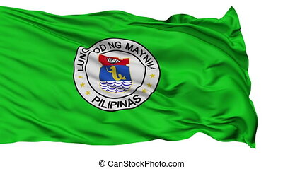 Manila City Isolated Waving Flag - Manila Capital City Flag...
