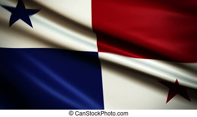 Waving Flag Panama Punchy - National flag of Panama waving...