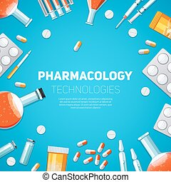 Pharmacology technologies illustration - Pharmacology...