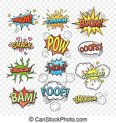 Comic bubbles set - Comic speech bubbles set isolated on...