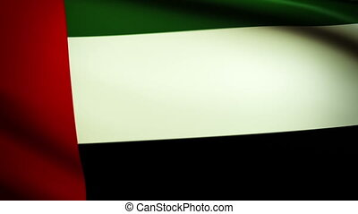 Waving Flag United Arabien Emirates - National flag of...