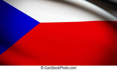 Waving Flag Czech Republic Punchy