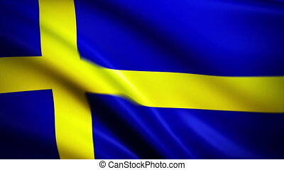 Waving Flag Sweden Punchy - National flag of Sweden waving...