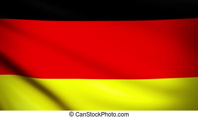 Waving Flag Germany Punchy - National flag of Germany waving...