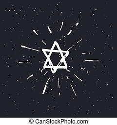 Star of David. vector illustration