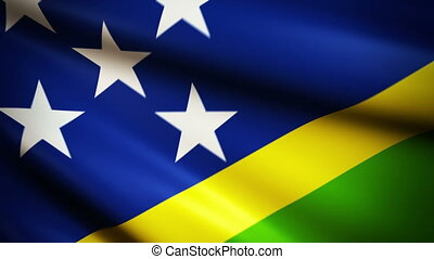 Waving Flag Solomon Island Punchy - National flag of Solomon...