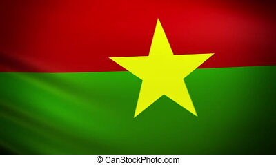 Waving Flag Burkina Faso Punchy - National flag of Burkina...