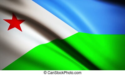 Waving Flag Dijibouti Punchy - National flag of Dijibouti...
