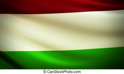 Waving Flag Hungary Punchy - National flag of Hungary waving...