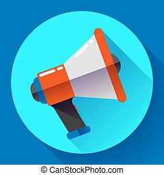 Megaphone Icon Vector. Viral marketing. Flat design style.