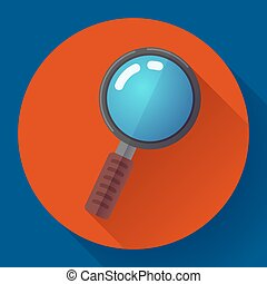 Vector Magnifying Glass Search Icon. Flat design style. -...