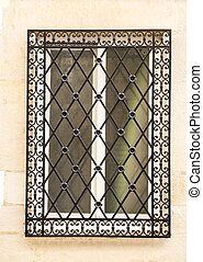 Decorative iron window grill - Decorative wrought iron...