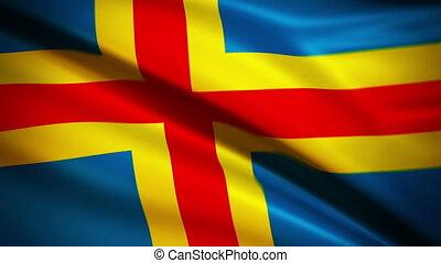 Waving Flag Aaland Island Punchy - National flag of Aaland...