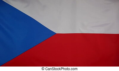 Slowmotion Flag Czech Republic - Slowmotion of a real...