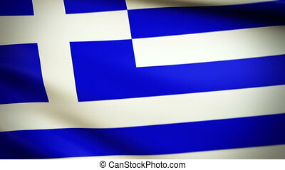 Waving Flag Greece Punchy - National flag of Greece waving...