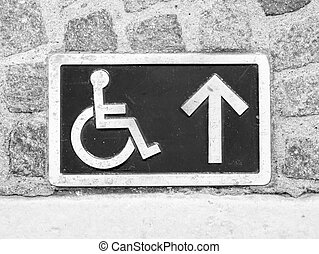 handicapped parking