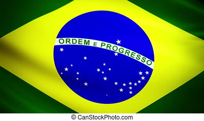Waving Flag Brazil Punchy - National flag of Brazil waving...