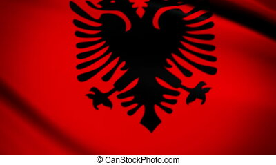 Waving Flag Albania Punchy - National flag of Albania waving...