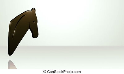 Iconic Horse On White Stage - background animation for home...