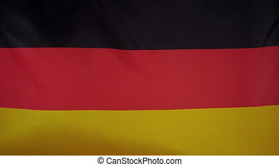 Slowmotion textile Flag Germany - Slowmotion of a real...