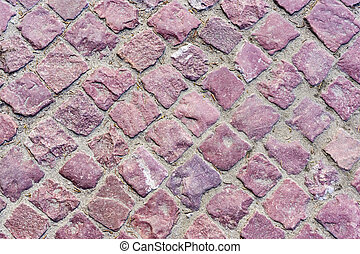 Granite pavers - The red granite pavers background