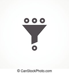 Filter icon - Gray Filter icon on white background