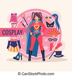 Cosplay Character Pack For Girl - Superhero cosplay...