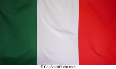 Slowmotion textile Flag Italy - Slowmotion of a real textile...