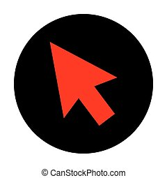 Arrow sign. Red vector icon