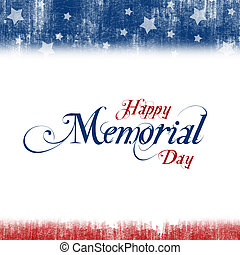 Memorial Day - A header footer illustration with United...