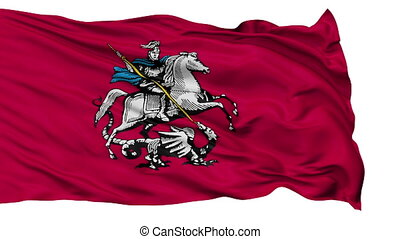 Moscow City Isolated Waving Flag - Moscow Capital City Flag...