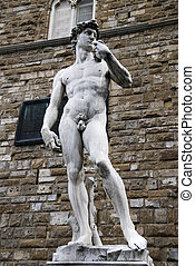 David - Replica of Michelangelo\'s David at its original...