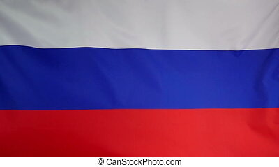 Slowmotion textile Flag Russia - Slowmotion of a real...
