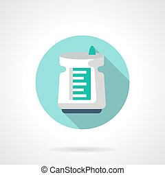Air dehumidifier flat color design vector icon -...