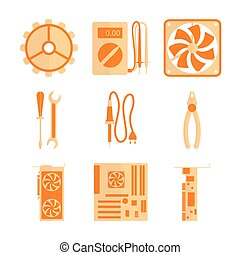 Icons set for computer repair - This icons set includes...