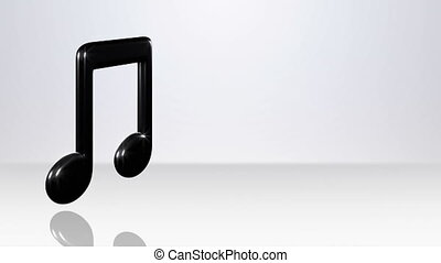 Double Note On White Stage - background animation for home...
