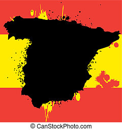 Grunge border line of country spain