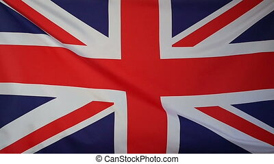 Slowmotion Flag United Kingdom - Slowmotion of a real...
