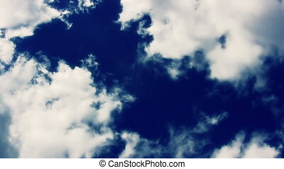 Cloudscape Flyby Puffy Clouds - Puffy Clouds - background...
