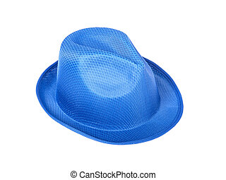 Unisex blue hat isolated on white background