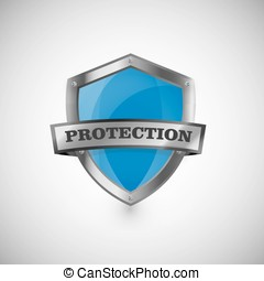 protection shield vector