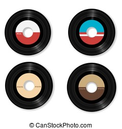 vinyl vector illustration - Available in high-resolution and...
