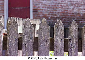 Old Weathered Fence - A closeup of an old, weathered fence...