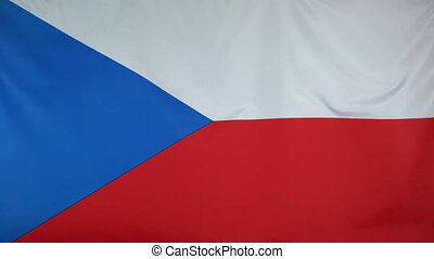 Czech Republic Flag real fabric - Textile flag of Czech...