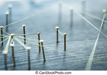 網, シングル, 提示, 接続, グループ, ∥間に∥, ワイヤー