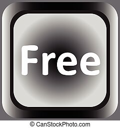 Icon black word free - Square web icon with the inscription...