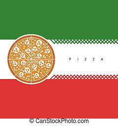 pizza italy color illustration