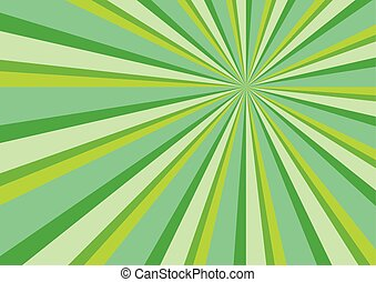 Light Ray Burst Abstract Background Green Vector...